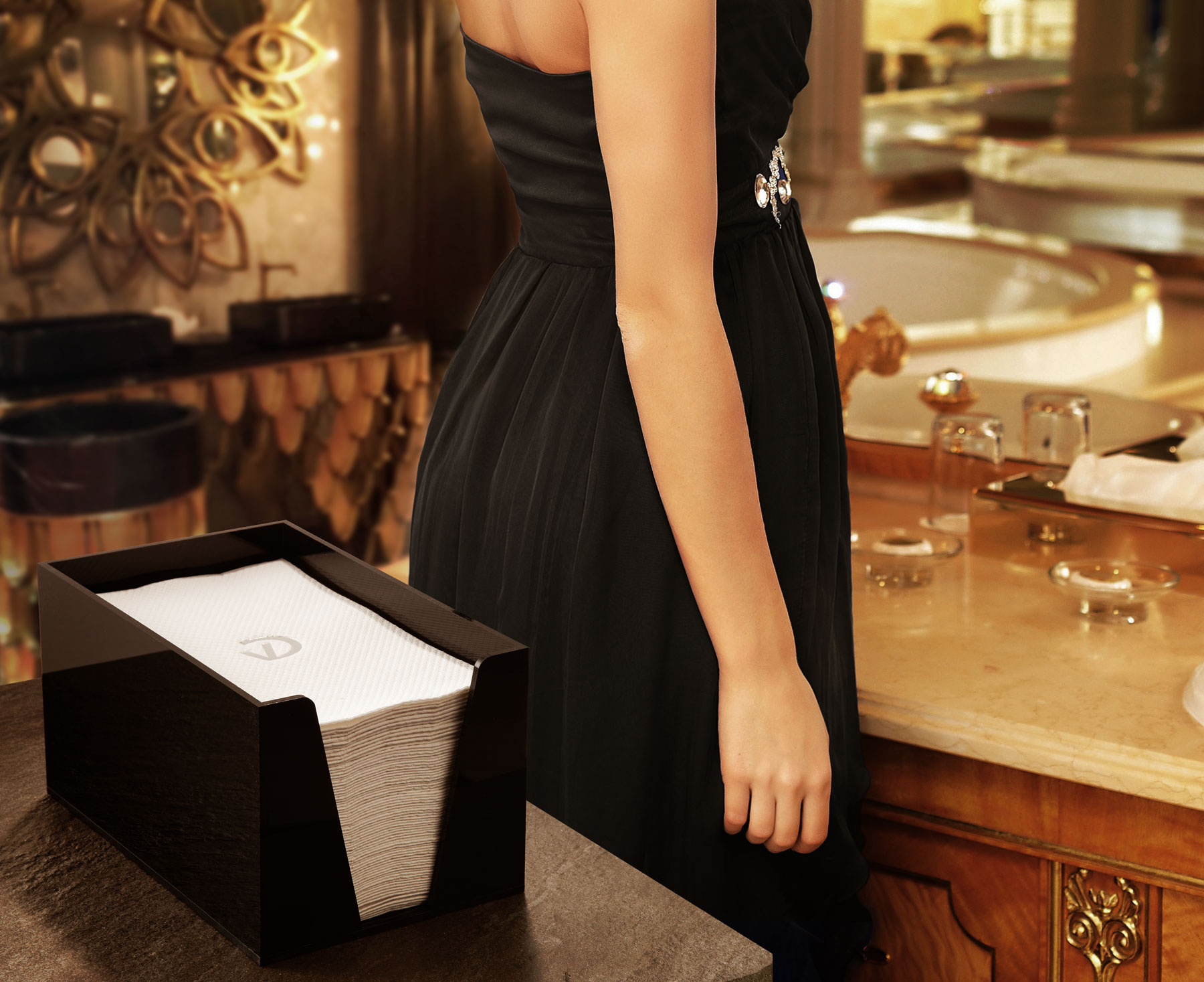 luxury line handt cher 30 x 49 cm mit exklusivem. Black Bedroom Furniture Sets. Home Design Ideas